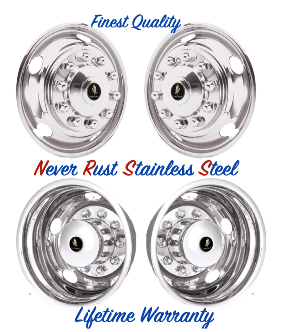 "19.5"" WHEEL SIMULATOR RIM LINER HUBCAP COVERS 10