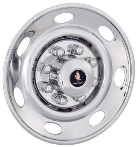 "JDST1708-11T trailer             17.5"" wheel cover wheel simulator chrome stainless             steel liners hubcaps"