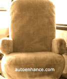 rv motorhome sheepskin seat cover tailor made