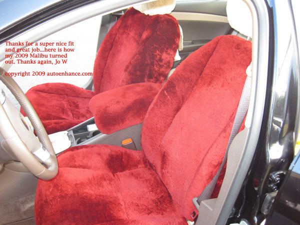 Sheepskin seat covers for car, truck, RV, motor home, semi truck