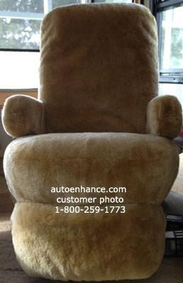 sheepskin rv motorhome seat ... & RV and motorhome sheepskin seat covers