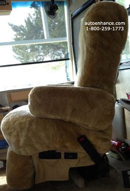 ... Sheepskin Rv Motorhome Seat Cover Image 2